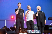 Hugh Jackman, Clay Dunn, and Deborra-lee Furness speak onstage during the 2019 Global Citizen Festival: Power The Movement in Central Park on September 28, 2019 in New York City.