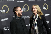 Ringo Starr and Barbara Bach attend the 2019 Global Citizen Prize at the Royal Albert Hall on December 13, 2019 in London, England.