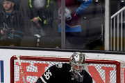 John Gibson #36 of the Anaheim Ducks warms up prior to the 2019 Honda NHL All-Star Game at SAP Center on January 26, 2019 in San Jose, California.