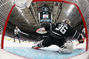 John Gibson #36 of the Anaheim Ducks allows a goal during the 2019 Honda NHL All-Star Game at SAP Center on January 26, 2019 in San Jose, California.