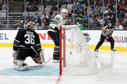 Mikko Rantanen #96 of the Colorado Avalanche scores against John Gibson #36 of the Anaheim Ducks during the 2019 Honda NHL All-Star Game at SAP Center on January 26, 2019 in San Jose, California.