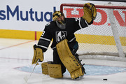 Marc-Andre Fleury #29 of the Vegas Golden Knights warms up prior to the 2019 Honda NHL All-Star Game at SAP Center on January 26, 2019 in San Jose, California.