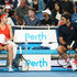 Roger Federer Photos - Belinda Bencic and Roger Federer of Switzerland talk on the bench in the mixed doubles match against Katie Boulter Cameron Norrie of Great Britain during day two of the 2019 Hopman Cup at RAC Arena on December 30, 2018 in Perth, Australia. - 2019 Hopman Cup - Day 2