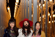 (L-R) Asia Chow, Alessandro Michele, and LACMA Trustee Eva Chow, all wearing Gucci, attend the 2019 LACMA Art + Film Gala Presented By Gucci at LACMA on November 02, 2019 in Los Angeles, California.