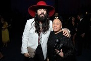 (L-R) Alessandro Michele and Betye Saar, both wearing Gucci, attend the 2019 LACMA Art + Film Gala Presented By Gucci at LACMA on November 02, 2019 in Los Angeles, California.
