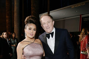 (L-R) Salma Hayek Pinault, wearing Gucci, and François-Henri Pinault attend the 2019 LACMA Art + Film Gala Presented By Gucci at LACMA on November 02, 2019 in Los Angeles, California.