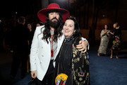 Alessandro Michele, wearing Gucci, and guest attends the 2019 LACMA Art + Film Gala Presented By Gucci at LACMA on November 02, 2019 in Los Angeles, California.