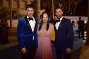 (L-R) Jwan Yosef, Eva Chow, and Ricky Martin, all wearing Gucci attend the 2019 LACMA Art + Film Gala Presented By Gucci at LACMA on November 02, 2019 in Los Angeles, California.
