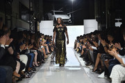 Benita Fitzgerald Mosley CEO of Laureus USA walks the runway at the 2019 Laureus Fashion Show Gala during New York Fashion Week, bringing together sport and fashion to shine a light on Sport for Good at Mercedes-Benz Manhattan on September 10, 2019 in New York City.