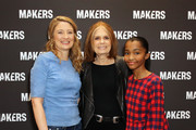 (L-R) Heidi Schreck, Gloria Steinem and Rosdely Ciprian attend The 2019 MAKERS Conference at Monarch Beach Resort on February 6, 2019 in Dana Point, California.