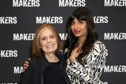 Gloria Steinem (L) and Jameela Jamil attend The 2019 MAKERS Conference at Monarch Beach Resort on February 7, 2019 in Dana Point, California.
