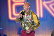 Dwayne Johnson accepts the MTV Generation Award onstage during the 2019 MTV Movie and TV Awards at Barker Hangar on June 15, 2019 in Santa Monica, California.