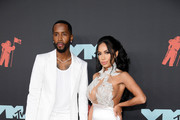 Safaree Samuels and Erica Mena Samuels attend the 2019 MTV Video Music Awards at Prudential Center on August 26, 2019 in Newark, New Jersey.