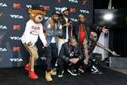 Slugga, DJ Kay Gee, Treach, and Vin Rock of Naughty By Nature pose in the Press Room during the 2019 MTV Video Music Awards at Prudential Center on August 26, 2019 in Newark, New Jersey.