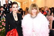 Bee Shaffer and Anna Wintour attend The 2019 Met Gala Celebrating Camp: Notes on Fashion at Metropolitan Museum of Art on May 06, 2019 in New York City.
