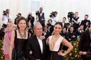 (L-R) Diana Taylor, Michael Bloomberg and Georgina Bloomberg attend The 2019 Met Gala Celebrating Camp: Notes on Fashion at Metropolitan Museum of Art on May 06, 2019 in New York City.