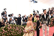Josephine Skriver and Jonathan Simkhai attend The 2019 Met Gala Celebrating Camp: Notes on Fashion at Metropolitan Museum of Art on May 06, 2019 in New York City.