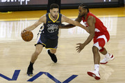 Klay Thompson #11 of the Golden State Warriors is defended by Kawhi Leonard #2 of the Toronto Raptors in the first half during Game Six of the 2019 NBA Finals at ORACLE Arena on June 13, 2019 in Oakland, California. NOTE TO USER: User expressly acknowledges and agrees that, by downloading and or using this photograph, User is consenting to the terms and conditions of the Getty Images License Agreement.