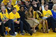 Jay-Z and Beyonce attend Game Three of the 2019 NBA Finals between the Golden State Warriors and the Toronto Raptors at ORACLE Arena on June 05, 2019 in Oakland, California. NOTE TO USER: User expressly acknowledges and agrees that, by downloading and or using this photograph, User is consenting to the terms and conditions of the Getty Images License Agreement.