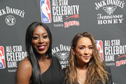 Chiney Ogwumike (L) and Cassidy Hubbarth attend the 2019 NBA All-Star Celebrity Game at Bojangles Coliseum on February 15, 2019 in Charlotte, North Carolina.