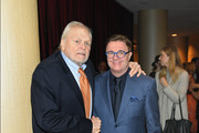 Actors Brian Dennehy (L) and Nathan Lane attends the 2019 New Dramatists Luncheon at The New York Marriott Marquis on May 14, 2019 in New York City.