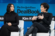 Kim Kardashian West and Kris Jenner speak onstage at 2019 New York Times Dealbook on November 06, 2019 in New York City.