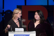 Robert F. Kennedy Human Rights President Kerry Kennedy and Greisa Martinez speak onstage during the 2019 Robert F. Kennedy Human Rights Ripple Of Hope Awards on December 12, 2018 in New York City.