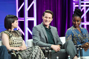 """Ginnifer Goodwin, Sam Jaeger and Kirby Howell-Baptiste of """"Why Women Kill"""" speak during the CBS segment of the 2019 Summer TCA Press Tour at The Beverly Hilton Hotel on August 1, 2019 in Beverly Hills, California."""