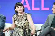 """Ginnifer Goodwin and Sam Jaeger of """"Why Women Kill"""" speak during the CBS segment of the 2019 Summer TCA Press Tour at The Beverly Hilton Hotel on August 1, 2019 in Beverly Hills, California."""