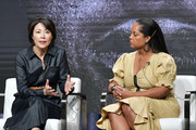 """Ann Curry and Kim Bondy of """"Chasing The Cure"""" speak during the TNT & TBS segment of the Summer 2019 Television Critics Association Press Tour 2019 at The Beverly Hilton Hotel on July 24, 2019 in Beverly Hills, California."""