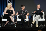(L-R) Shakina Nayfack, Faith Soloway and Jill Soloway speak onstage during the Amazon Prime Video segment of the Summer 2019 Television Critics Association Press Tour at The Beverly Hilton Hotel on on July 27, 2019 in Beverly Hills, California.