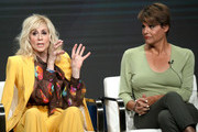 Judith Light and Alexandra Billings of 'Transparent' speak onstage during the Amazon Prime Video segment of the Summer 2019 Television Critics Association Press Tour at The Beverly Hilton Hotel on on July 27, 2019 in Beverly Hills, California.