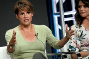 Alexandra Billings and Amy Landecker of 'Transparent' speak onstage during the Amazon Prime Video segment of the Summer 2019 Television Critics Association Press Tour at The Beverly Hilton Hotel on on July 27, 2019 in Beverly Hills, California.