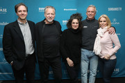 """(L-R) Co-Director and Producer Nicholas de Pencier, Co-Director and DP Ed Burtynsky, Co-Director and Writer Jennifer Baichwal, Robert Kennedy Jr., and Cheryl Hines attend the  """"Anthropocene: The Human Epoch"""" Premiere during the 2019 Sundance Film Festival at Temple Theater on January 25, 2019 in Park City, Utah."""