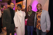 "(L-R) Chiwetel Ejiofor, Maxwell Simba, Aissa Maiga, and William Kamkwamba attends ""The Boy Who Harnessed The Wind"" Pre-Screening Reception"" during the 2019 Sundance Film Festival at Pierpont Place on January 25, 2019 in Salt Lake City, Utah."
