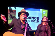 Chris Stills and Feist perform onstage during the Celebration Of Music In Film during the 2019 Sundance Film Festival at The Shop on January 26, 2019 in Park City, Utah.