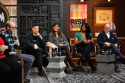 (L-R) Nick Adams, Rhys Ernst, Rain Valdez, Alexandra Grey, and James Schamus onstage at the GLAAD Hosts Beyond The Transition Narrative: Transgender Storytelling In The 21st Century Panel during the 2019 Sundance Film Festival  at Filmmaker Lodge on January 29, 2019 in Park City, Utah.