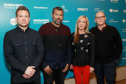 """(L-R) Executive Producers Joshua Rofe and Jordan Peele, Lorena Gallo, and Executive Producer Steven J. Berger from """"Lorena"""" attend the """"Lorena"""" Premiere during the 2019 Sundance Film Festival  at Egyptian Theatre on January 29, 2019 in Park City, Utah."""