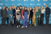 "(L-R) Shea Whigham, Madisen Beaty, Malin Akerman, Kara Hayward, Lucas Zumann, Liana Liberato, Martha Stephens, Lauren Ashley Stephenson, Sophia Bairley, Jordana Spiro, Kristin Mann, Laura Smith, Adelaide Clemens, and Tony Hale attend the ""To The Stars"" during the 2019 Sundance Film Festival at The Ray on January 25, 2019 in Park City, Utah."