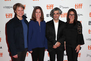 (L-R) VP, Documentary Films, National Geographic Ryan Harrington, Executive VP, Global Scripted Content and Documentary Films, National Geographic Carolyn Bernstein, director Feras Fayyad and President, National Geographic Global Television Networks Courteney Monroe attend the 2019 Toronto Film Festival premiere of National Geographic Documentary Films' THE CAVE on September 05, 2019 in Toronto, Canada.