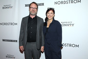 "(L-R) Rainn Wilson and Holiday Reinhorn attend the ""Blackbird"" premiere party at Nordstrom Supper Suite during the 2019 Toronto International Film Festival at MARBL Restaurant on September 06, 2019 in Toronto, Canada."