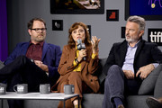 "(L-R) Rainn Wilson, Susan Sarandon, and Sam Neill, attend the ""Blackbird"" press conference during the 2019 Toronto International Film Festival at TIFF Bell Lightbox on September 06, 2019 in Toronto, Canada."