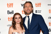 "(L-R) Jessica Barden and Charlie Hunnam attend the ""Jungleland"" photo call during the 2019 Toronto International Film Festival at Princess of Wales Theatre on September 12, 2019 in Toronto, Canada."
