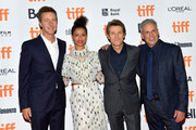 """Director Edward Norton, Gugu Mbatha-Raw, Willem Dafoe and Josh Pais attend the """"Motherless Brooklyn"""" premiere during the 2019 Toronto International Film Festival at Princess of Wales Theatre on September 10, 2019 in Toronto, Canada."""