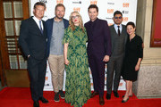 """(L-R) Malte Grunert, guest, Julie Delpy, Richard Armitage, Andrew Levitas and Gabrielle Tana attend the """"My Zoe"""" premiere during the 2019 Toronto International Film Festival at Winter Garden Theatre on September 07, 2019 in Toronto, Canada."""