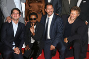"""(L-R) Benny Safdie, LaKeith Stanfield, Adam Sandler and Sebastian Bear-McClard attend the """"Uncut Gems""""premiere during the 2019 Toronto International Film Festival at Princess of Wales Theatre on September 09, 2019 in Toronto, Canada."""