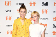 "(L-R) Amber Anderson and Kacey Rohl attend the ""White Lie"" photo call during the 2019 Toronto International Film Festival at TIFF Bell Lightbox on September 07, 2019 in Toronto, Canada."
