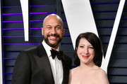 Keegan-Michael Key and Elisa Pugliese attends the 2019 Vanity Fair Oscar Party hosted by Radhika Jones at Wallis Annenberg Center for the Performing Arts on February 24, 2019 in Beverly Hills, California.