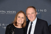 Gloria Steinem and Francois-Henri Pinault attend the 2019 Vital Voices Solidarity Awards at IAC Building on December 09, 2019 in New York City.