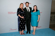 (L-R) Sarah Arison, Andrew Rannells and Zuzanna Szadkowski attend the YoungArts New York Gala at the Metropolitan Museum on April 16, 2019 in New York City.